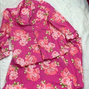Betsy Johnson floral pajamas